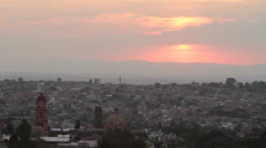 Sunset on San Miguel de Allende historical town Mexico Stock Footage