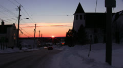 Sunset Over Small Town - stock footage