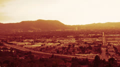 City of Burbank (Time lapse) Stock Footage