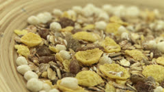 Grain muesli 1 - stock footage