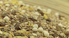 Grain muesli 2 - stock footage