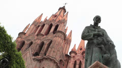 Church San Miguel de Allende Mexico Stock Footage