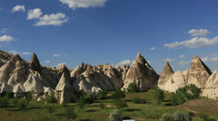 Cave house city at cappadocia Stock Footage