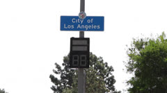Los Angeles City Limits Sign - stock footage
