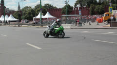 MOTORCYCLE BURNOUT Stock Footage