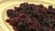 Stock Video Footage of Dried Cranberries 1