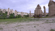 Stock Video Footage of horse trip at famous cappadocia