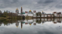 Novodevichy Convent in Moscow, Timelapse Video, Moscow, Russia Stock Footage