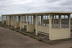 old sea front shelter in margate, kent - stock photo