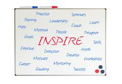 inspire word cloud - stock illustration