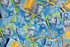Australian kymmenen dollarin seteleitä Kuvituskuvat
