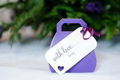 wedding favours purple - stock photo