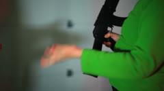 Gun deal gun trade black market Stock Footage