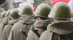 Rank of soldiers Stock Footage