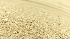 Natural round grain rice 2 Stock Footage