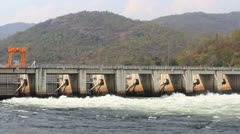 Lower Mae Ping Dam in Tak province,Thailand Stock Footage