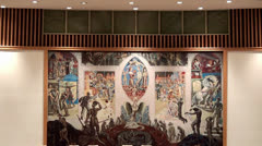 UN Security Council Chamber (UNSC) at its headquarters, NYC Stock Footage