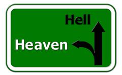 heaven or hell way - stock illustration