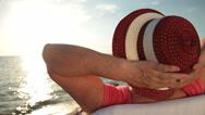 Stock Video Footage of Senior Travel Beach Vacation