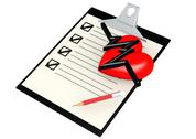 Stock Illustration of Note pad with heart