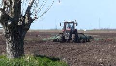 Planting Crops on a Field - stock footage
