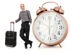 Handsome businessman with his luggage Stock Illustration