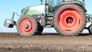 Stock Video Footage of Tractor and Seeder Planting Crops
