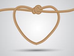 Rope heart Stock Illustration
