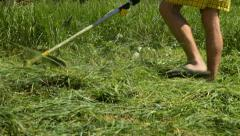 Grass Cutter Stock Footage