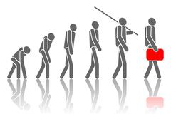 evolution. - stock illustration