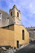 Church from Cagnes sur Mer in France Stock Photos