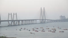 Bandra Worli Sea Link Stock Footage