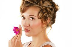 Beauty woman closeup portrait Stock Photos