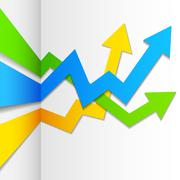 Infographics Upward Arrow Stock Illustration