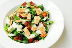Delicious ceasar salad Stock Photos