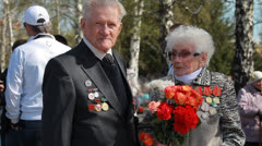 Veterans of the Great Patriotic War  8 Stock Footage