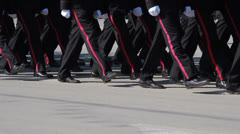 Cadets marching - stock footage