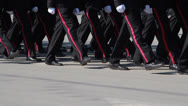 Stock Video Footage of Cadets marching
