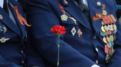 Veterans of the Great Patriotic War. medals Stock Footage