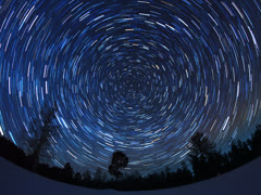 The stars in the night sky. 4x3 Stock Footage