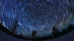 The stars in the night sky - stock footage