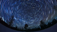 Stock Video Footage of The stars in the night sky
