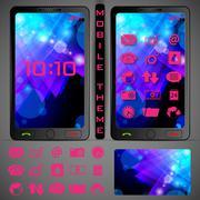 Mobilephone Theme Stock Illustration