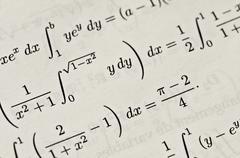 Mathematics signs Stock Photos