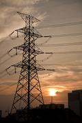 High-voltage tower. Stock Photos
