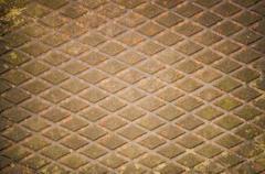 Ruosteinen valurauta kuvioita geometricals timantteja. Kuvituskuvat