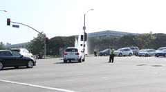 Traffic Officers directing traffic in Los Angeles. Stock Footage