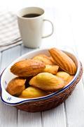 Sweet madeleine cookies Stock Photos