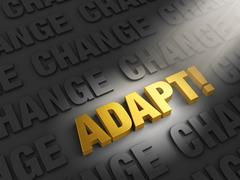 Stock Illustration of adapt to confront change