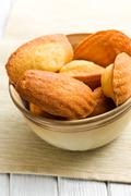 sweet madeleine cookies - stock photo